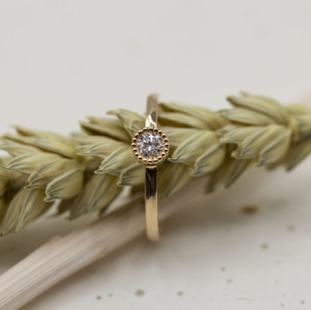 Bague Madeleine Isilde - diamant en or rouge 750/1000 18 carats Fairmined