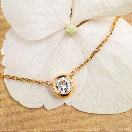 Collier Ayamé en or rose-champagne 750/1000 Fairmined